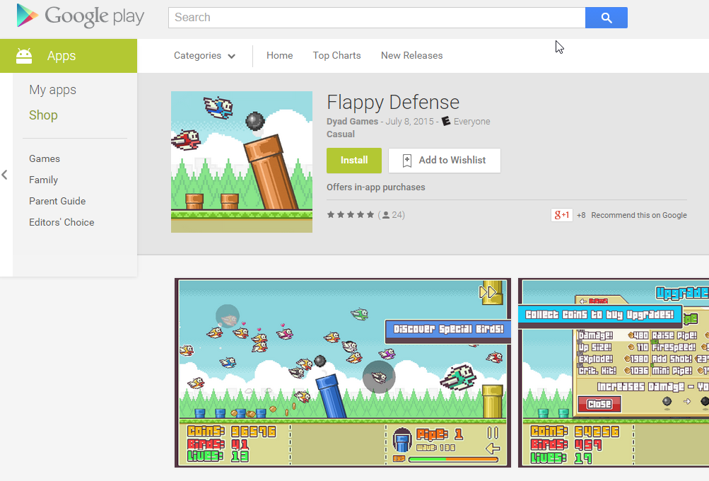 Flappy Defense | PC & Android Officially Released
