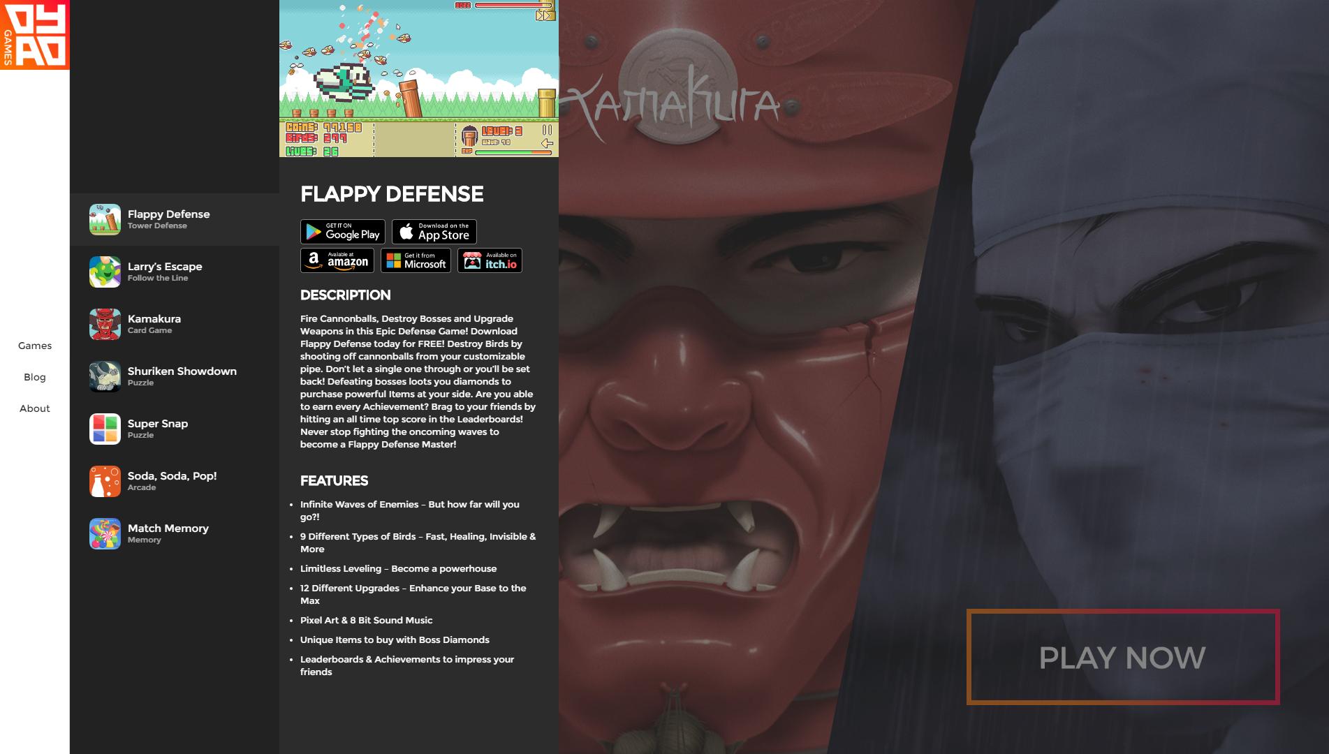 Dyad Games 2017 Website Design Update
